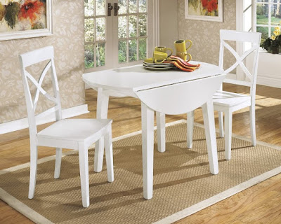 Dining room table with drop down sides
