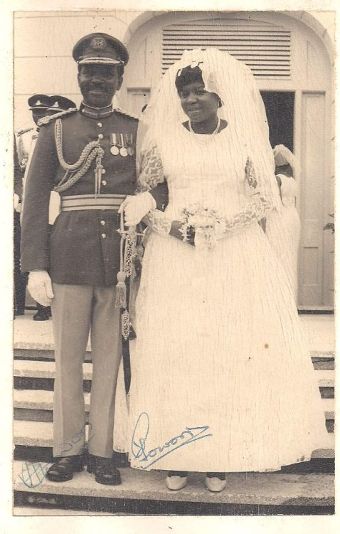 General and Mrs Yakubu Gowon on their Wedding Day in Lagos, April 19th, 1969.