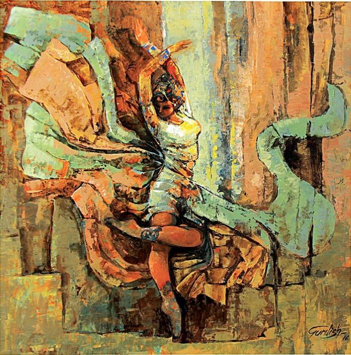Индийский художник. Gurdish Pannu