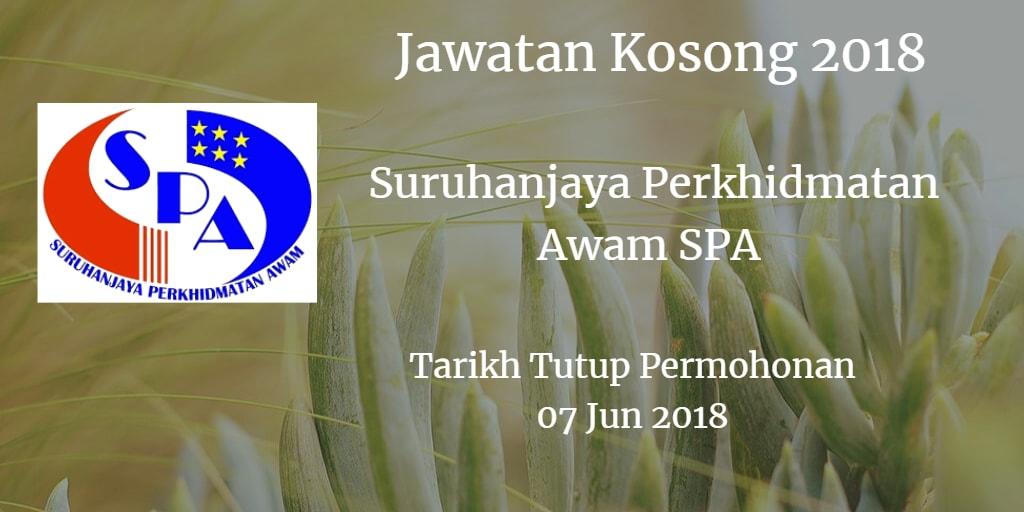 Jawatan Kosong SPA8 07 Jun 2018