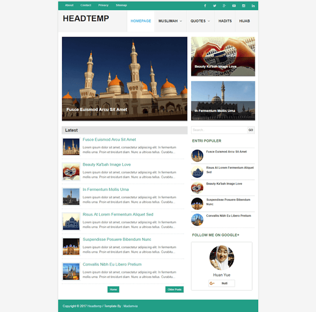 HeadTemp Responsive Blogger Template