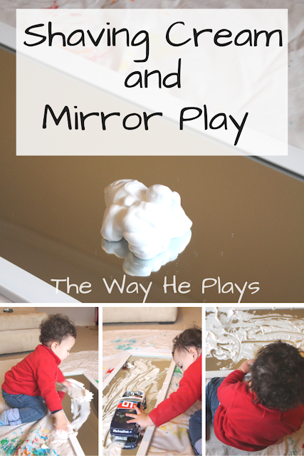 Shaving Cream and Mirror Play