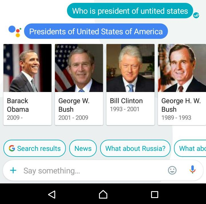 president of united states answered by allo application