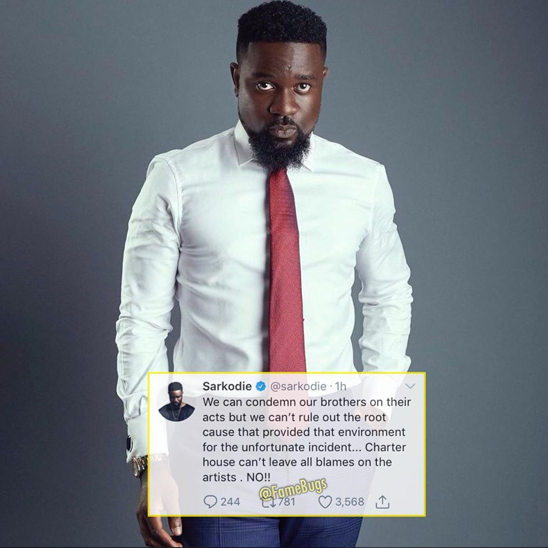 Sarkodie Speaks On VGMA's Indefinite Ban On Shatta Wale And Stonebwoy