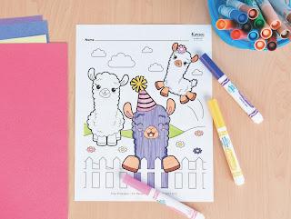 llama free printable coloring page