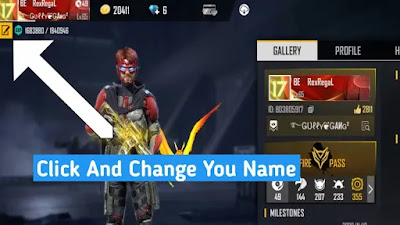 How to Change Free fire Name