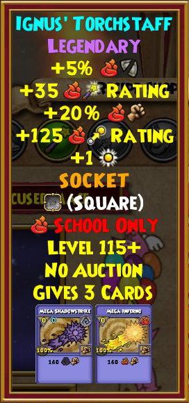 Wizard101 Best Fire Gear Level 130+