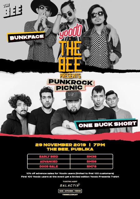 Konsert Punkrock Picnic Yoodo x The Bee Menampilkan Bunkface Dan One Buck Short