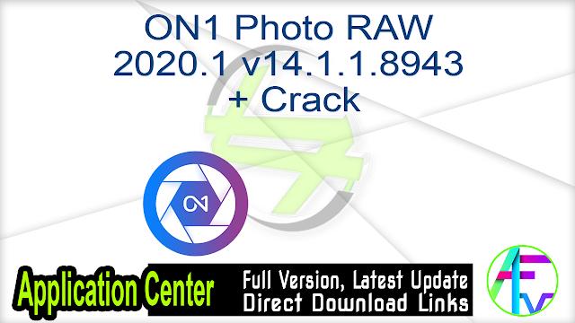 ON1 Photo RAW 2020.1 v14.1.1.8943 + Crack