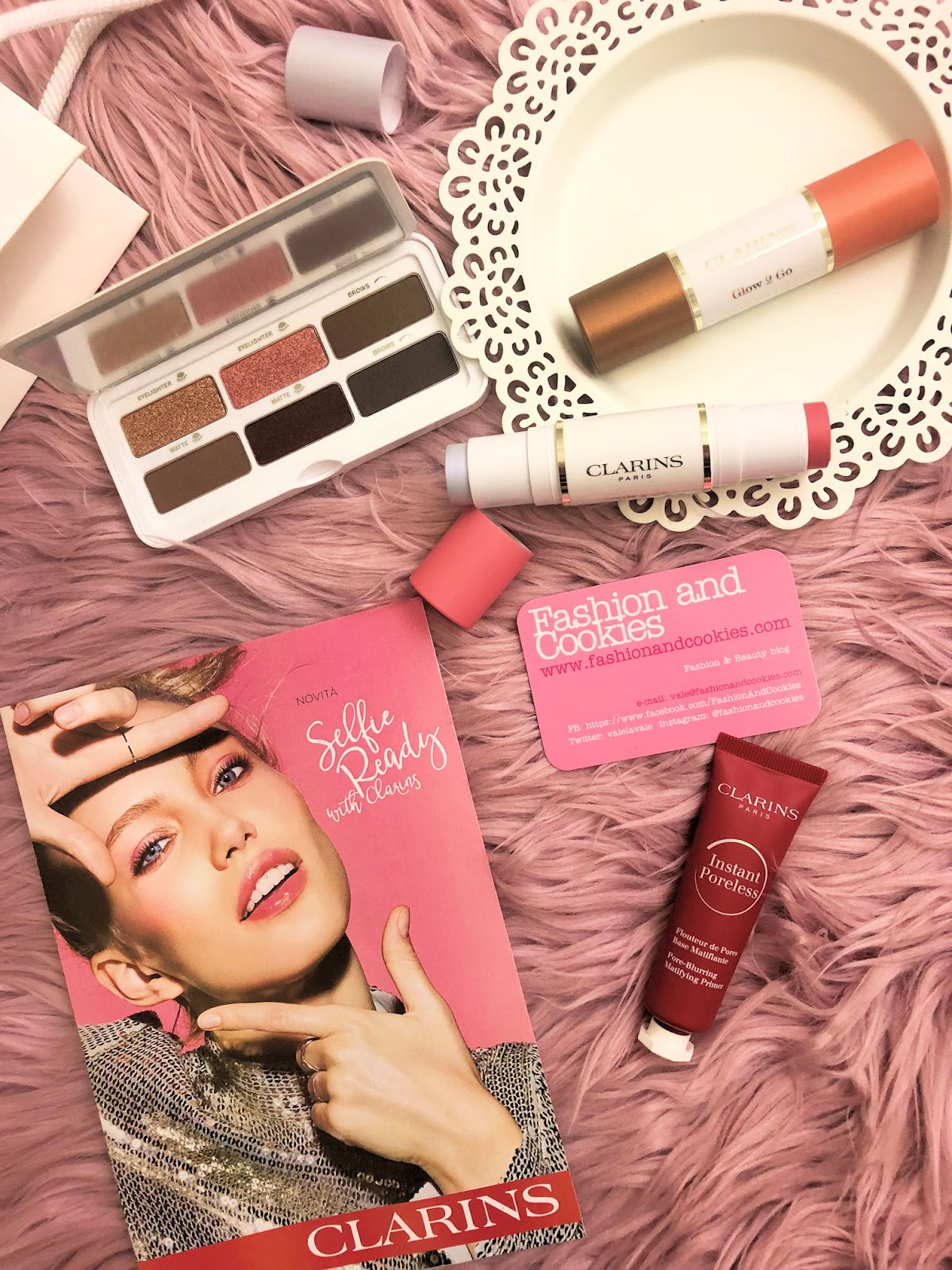 Clarins Selfie Ready collezione makeup primavera 2019 on Fashion and Cookies beauty blog, beauty blogger