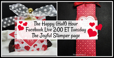 From My Heart Valentine projects from my Happy (Half) Hour Facebook Live | Nicole Steele The Joyful Stamper