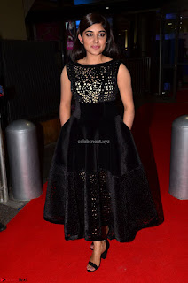 Niveda Thomas Black Sleeveless Cute Dress at 64th Jio Filmfare Awards South 2017 ~  Exclusive 053.JPG