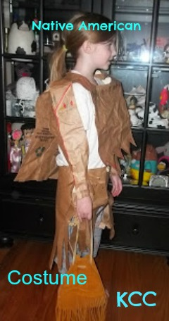 Things to do with a paper bag Native American Indian Dress Costume Easy