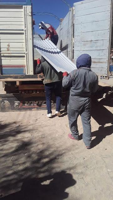die zweite LKW Lieferung mit Material ist in Zapatera angekommen