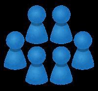 グループのイラスト(青)