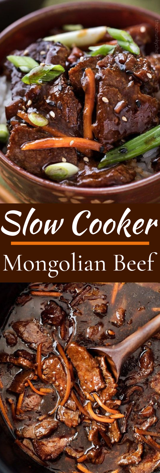 Easy Slow Cooker Mongolian Beef #dinner #beef