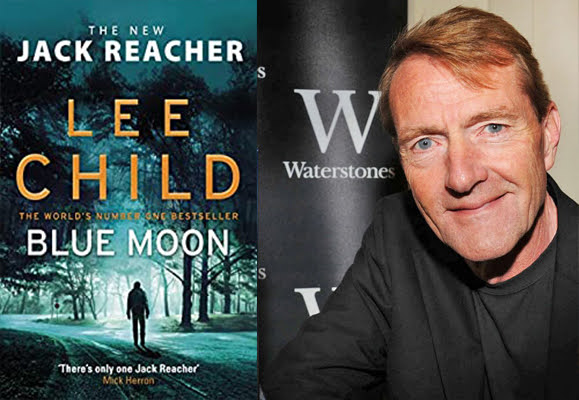 Lee Child with Blue Moon