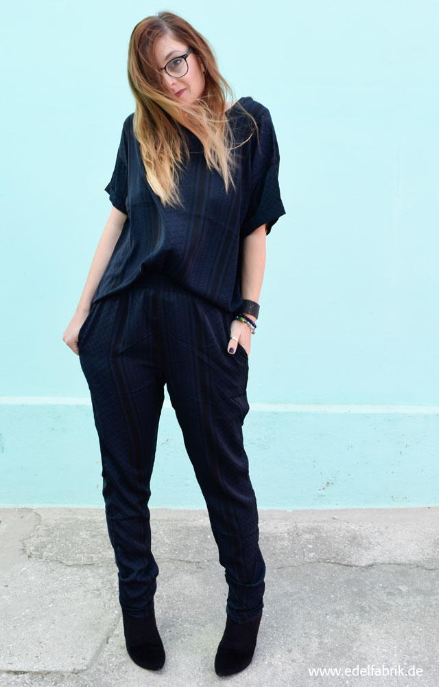 die Edelfabrik, Pyjama Style, dunkelblau, Zweitteiler, TK Maxx
