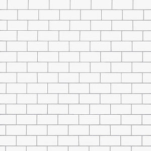 Portada del álbum The Wall (1979) de Pink Floyd con el muro vacío...