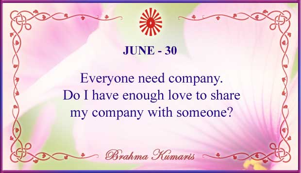 Thought For The Day June 30