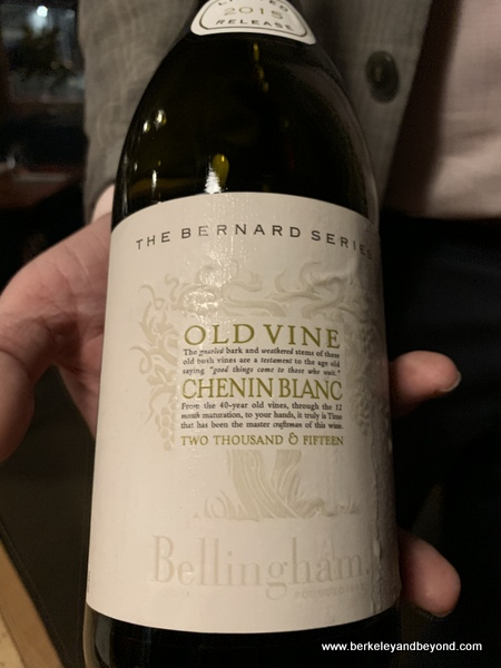 2015 Bellingham Chenin Blanc (coastal region, South Africa) wine at Veritas in Columbus, Ohio