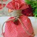 Strawberry themed christening favors B039