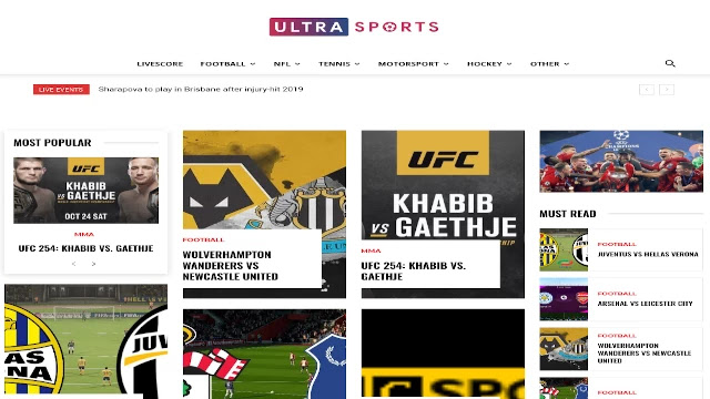 Ultrasports-sports-streaming-website