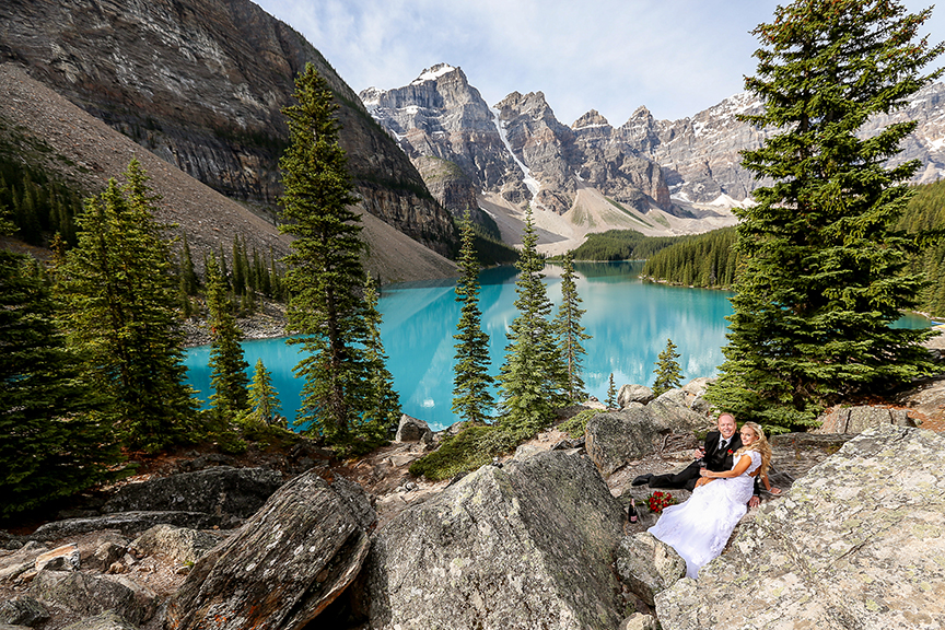 Summer Wedding Moraine Lake