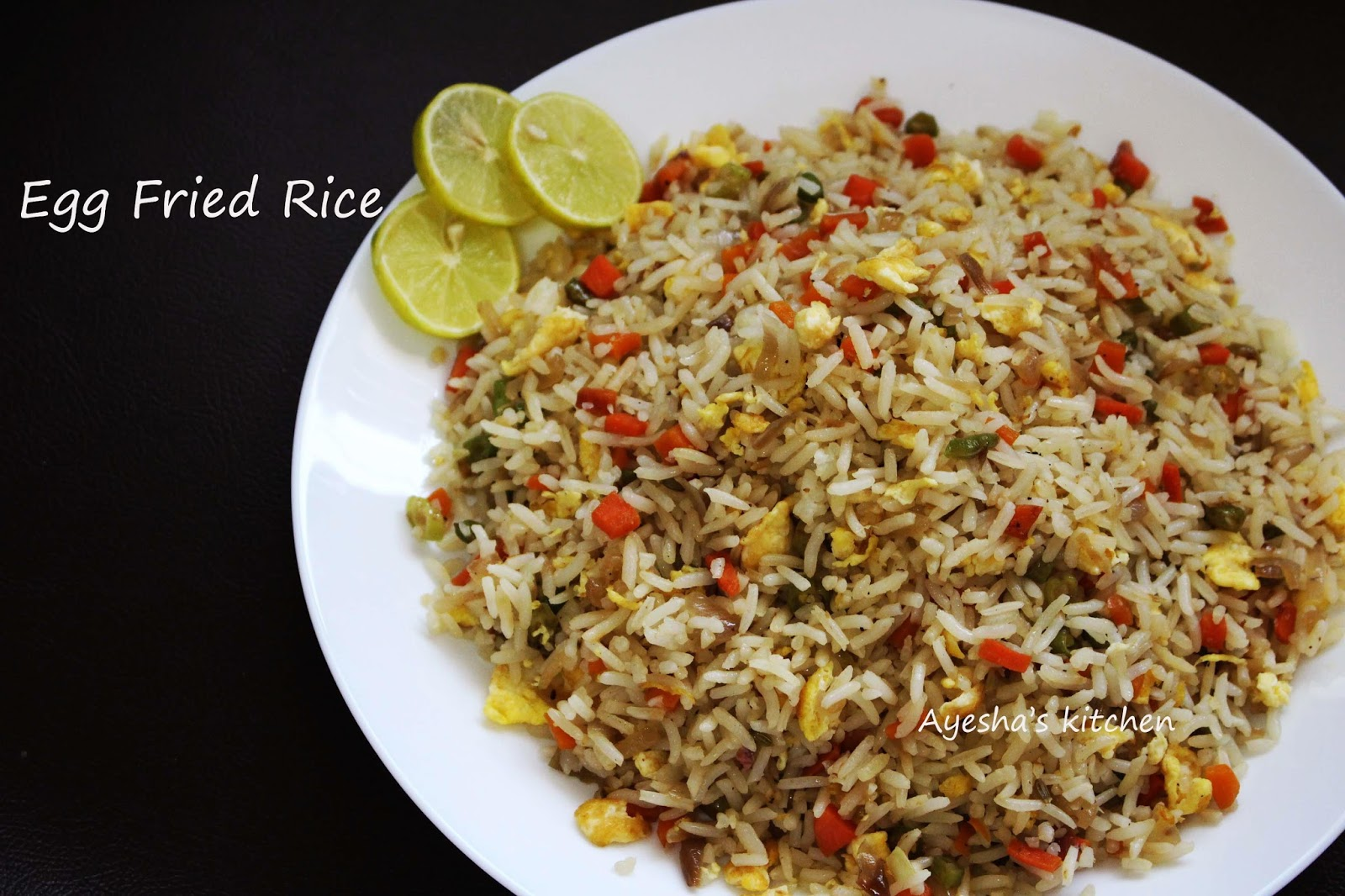 Egg fried rice recipe quick rice recipes less of the ingredients to suit your taste hope you all like this egg fried rice recipe so here is the recipe showing how to make fried rice with egg ccuart Choice Image