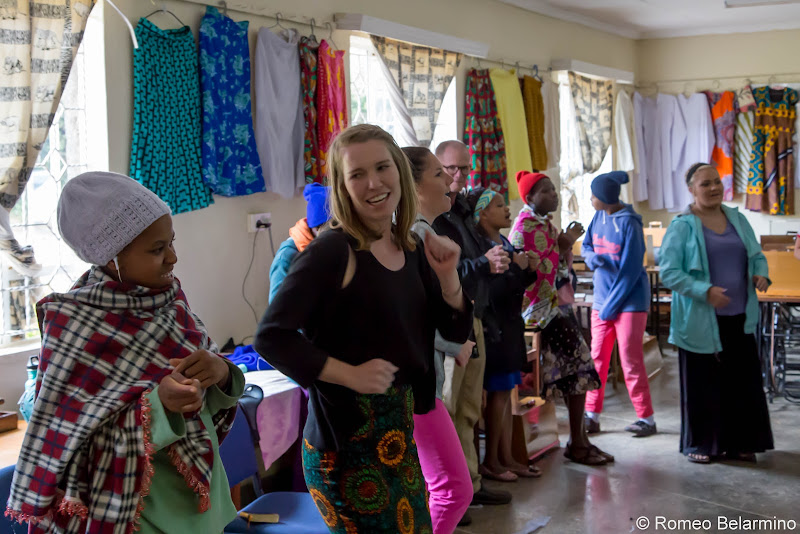 Emily with the Cheshire Home Girls Volunteering in Kenya with Freedom Global