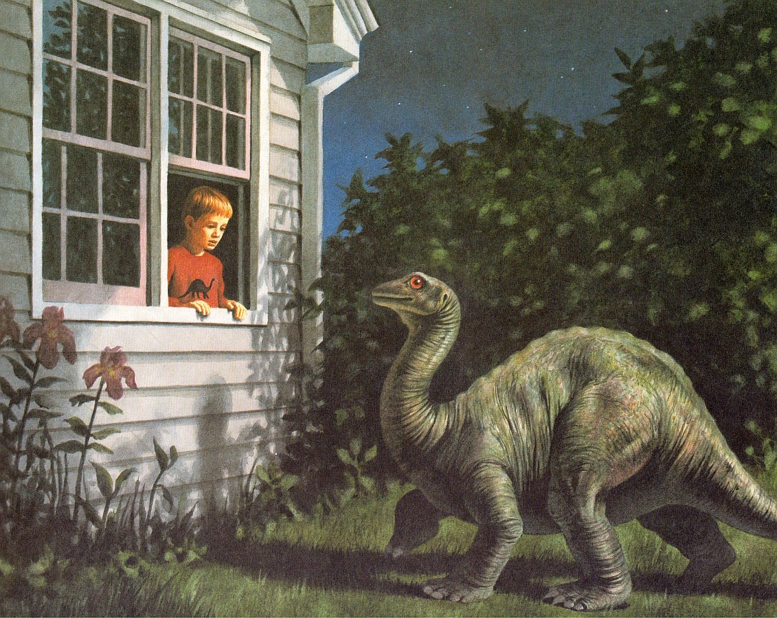 Love In The Time Of Chasmosaurs Vintage Dinosaur Art