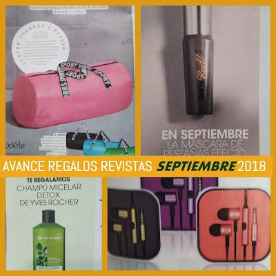 AVANCE REGALOS REVISTAS SEPTIEMBRE 2018