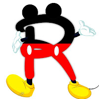 Original alfabeto inspirado en Mickey Mouse R.