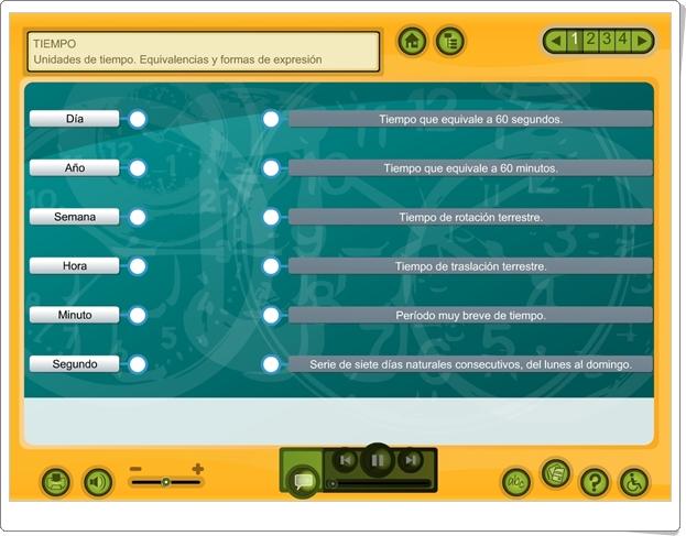 """""""Tiempo"""" (Aplicación interactiva de Matemáticas de Primaria)"""