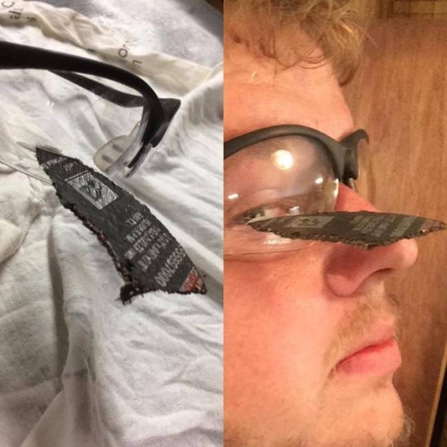 Always wear safety glasses.