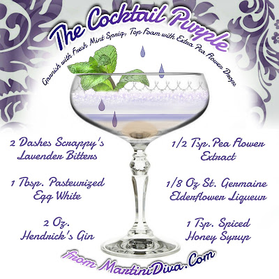 The Color Purple Cocktail Recipe Ingredients & instructions