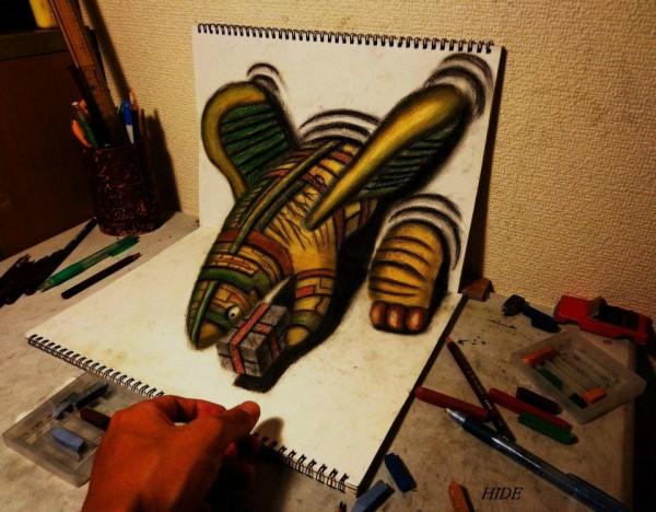 Gambar Sketsa 3 Dimensi Yang Kreatif Keren dan Juga Menakjubkan-9