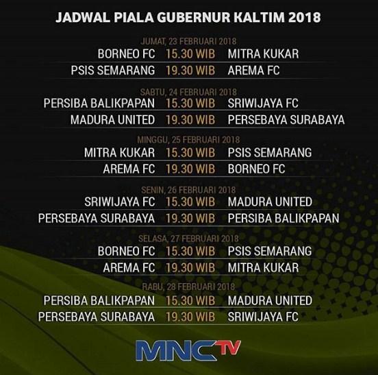 Jadwal Piala Gubernur Kaltim 2018 - Siaran Langsung MNCTV