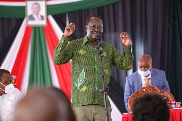 Raila Odinga at Kisii State Lodge on BBI report