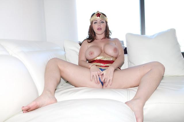Sophie Dee wonder woman naked pussy wide open