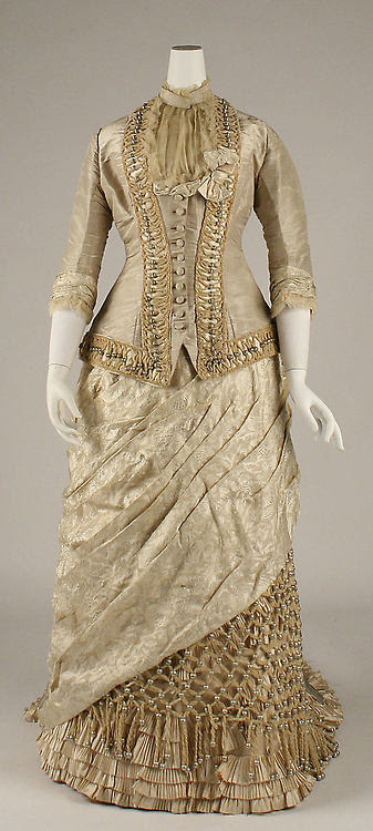Then & Now ~ Gold Evening Dress