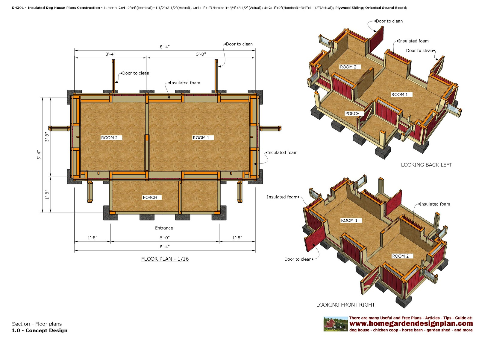 home garden plans: DH301 - Insulated Dog House Plans - Dog ... on downloadable house plans, very small house plans, reasonable house plans, preliminary house plans, defensive house plans, colored house plans, passive house plans, compound house plans,