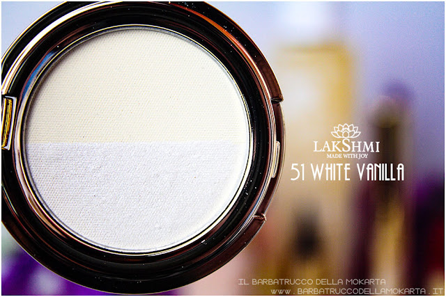 white vanille 51 eyeshadow ombretti review lakshmi makeup vegan ecobio