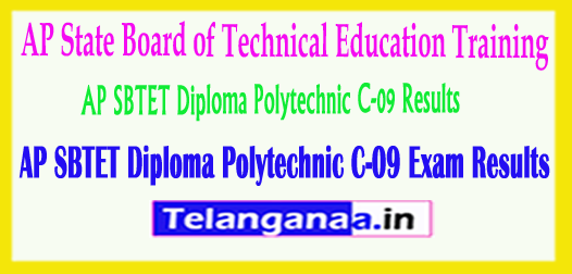 AP SBTET Andhra Pradesh Diploma Polytechnic C-09 Exam Results 2018