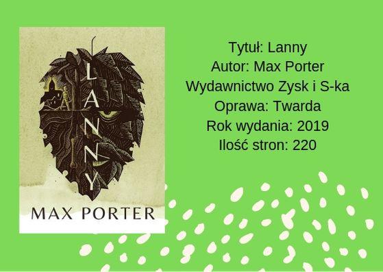 """[PRZEDPREMIEROWO] """"Lanny"""" - Max Porter"""