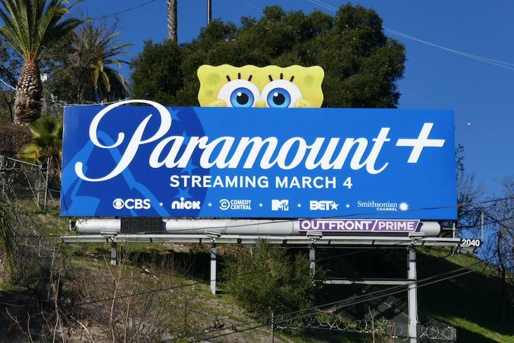 SpongeBob Paramount plus launch billboard