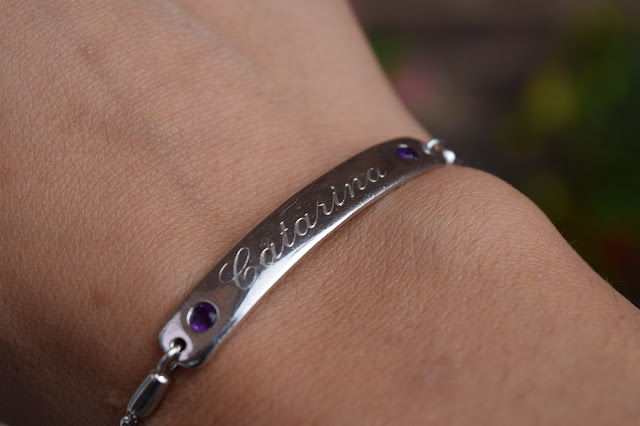 Style | Personalised Amethyst Sliding Bracelet