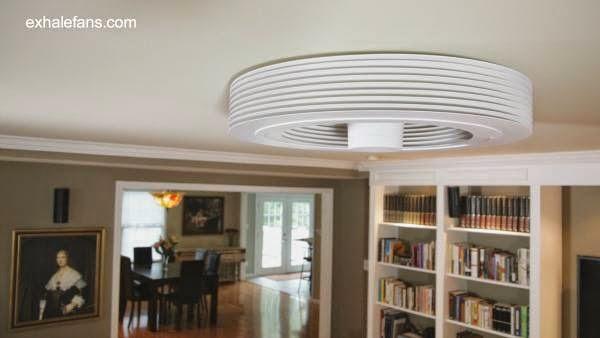 Artefacto ventilador de techo sin paletas de diseño innovador