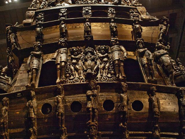 jiemve, Vasa, bâteau, musée, décoration, poupe