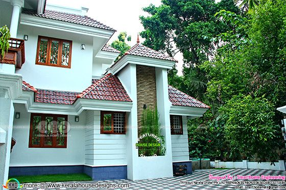 Side view of Kerala home design